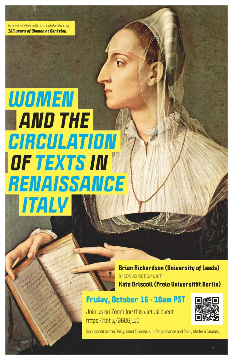 Women and the Circulation of Texts in Renaissance Italy