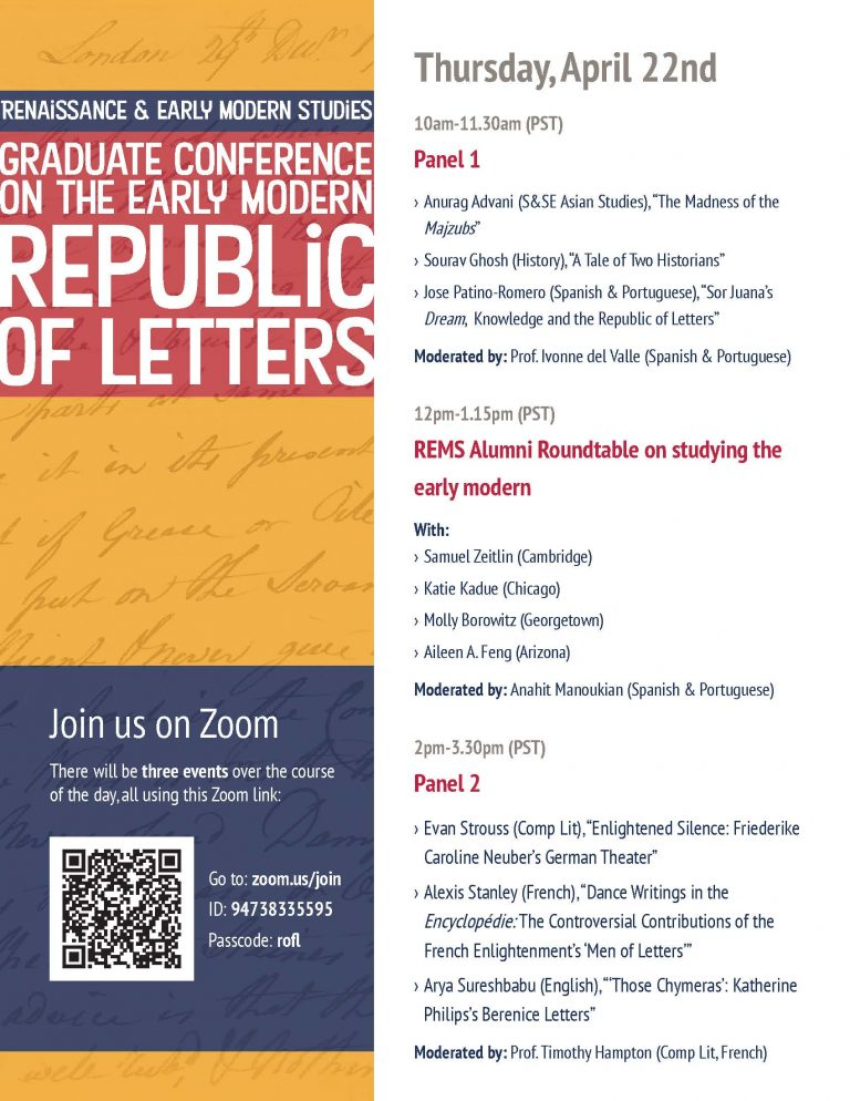 Graduate Student Panel and Roundtable:  Republic of Letters
